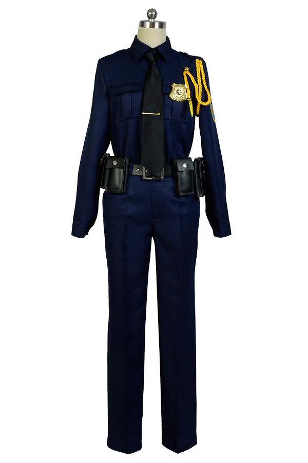 Hot Anime Zootopia Cosplay costume Fox Nick Police Uniform Cosplay Costume Full Sets Halloween Adult Men Women Costume chic buttoned skinny women s police cosplay costume
