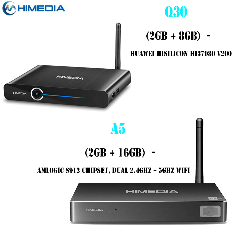 Himedia Q30 4K 3D Smart TV Android 7.1 TV Box 2GB 8GB; Himedia A5 Android 6.0 2GB 16GB WiFi Network Home Theater HD Media Player стоимость