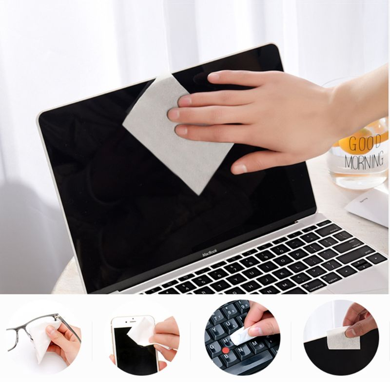 1 Box Glasses Cleaner 6x8cm Disposable Paper Wet Wipes Portable Lens Cleaning Phone Computer Screen Tissue Cloth Wiping image