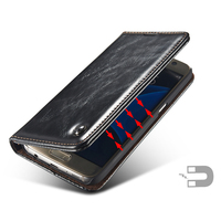 For Samsung Galaxy A5 2017 Phone Case Magnet Auto Flip Leather Wallet Holder Stand For Samsung
