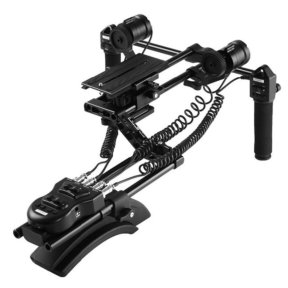 Top Deals Focus Zoom Control Video Shoulder Rig for Canon 5D2 Mark III 6D 600D Nikon D7000 Panasonic Camcorder HD DSLR Cameras yelangu professional dslr dual handle shoulder mount rig video dv accessories for canon 5d2 5d3 7d 70d 60d 5d mark iii d810 d610