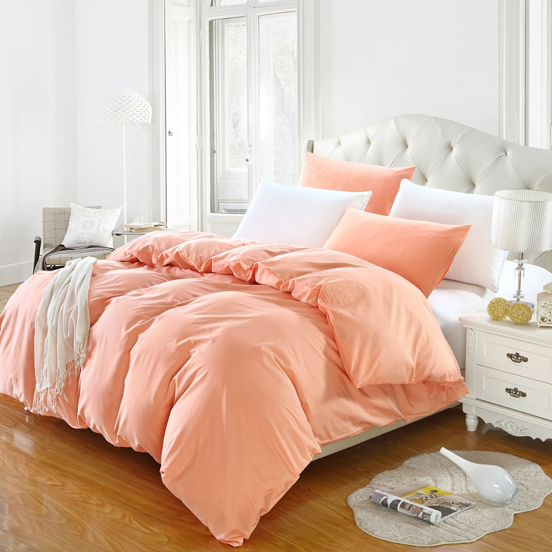1Pcs 100% Cotton Duvet Cover Solid Color Quilt Cover Single Double Queen King Comforter Cover Bedding Free Shipping