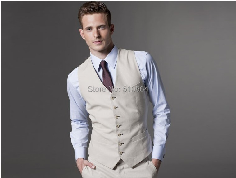 Wholesale Custom made Men Fashion cream coloured fit suit Three ...
