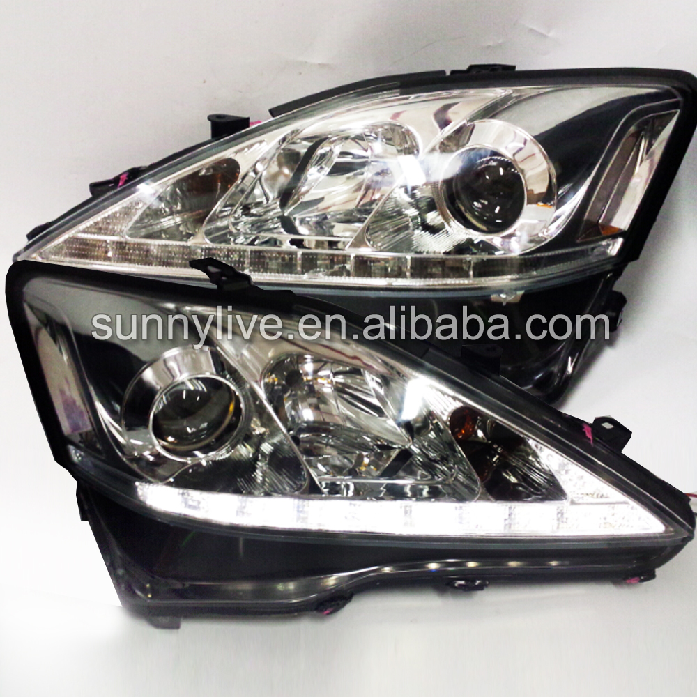 for Lexus IS250 IS350  LED Head Lamps with Projector Lens 2006-2010 SN Chrome Housing led head lampfor lexus for lx470 led head lamp1998 2007 year