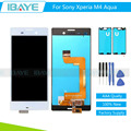 Black White For Sony Xperia M4 Aqua LCD Display Touch Screen Digitizer E2303 M4 Pantalla + Adhesive Glue Tapes + Test video