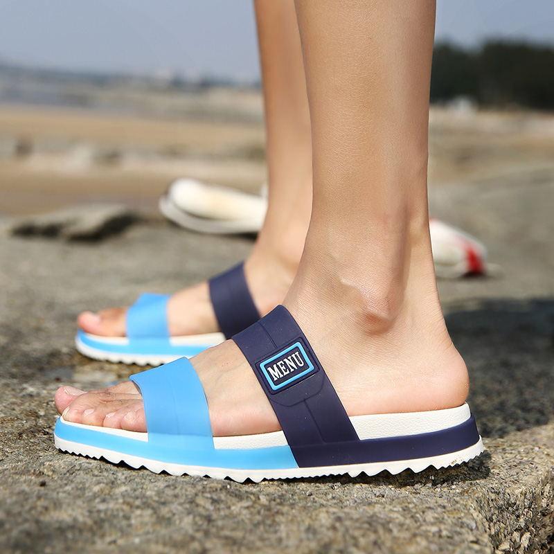 LAISUMK Summer Beach Men Slippers Casual Shoes Double Buckle Man Slip on Flip Flops Flats Camouflage Flip Flop Indoor & Outdoor 94