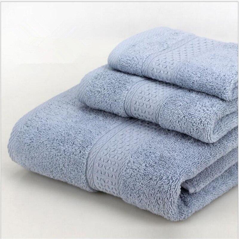 Hotel home cotton 17 color merchandise towel sets soft Absorbent towels Set(1bath towel+2towel) high-end gift boxes