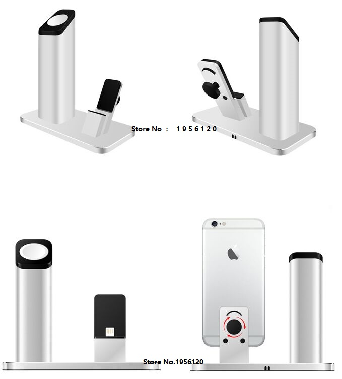 2016 The new listing of the exclusive sales of Apple mobile phone charging cradle support all metal Iwatch watch charging base