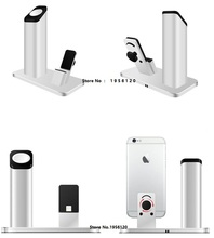 2016 a nova listagem da exclusive vendas da apple mobile phone charging cradle suporte todos os metais Iwatch assista carregamento base
