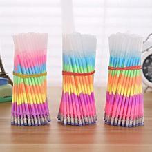 Многоцветная Радужная Акварельная ручка для студентов, школьные канцелярские принадлежности 0,5 мм/0,2 дюйма