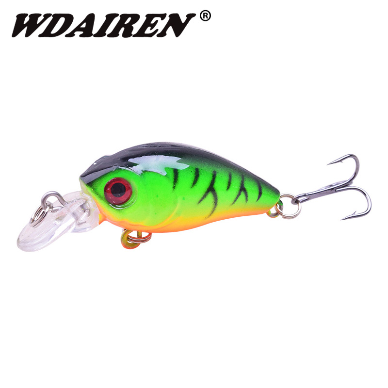 1Pcs Crank Bait 4.5cm 3.8g Fishing Wobblers Carp Artificial Hard Fishing Lure Diving Depth 0.1-0.3m Lake River Fishing Tackle 1pc yellow colors 150g carp trulinoya wobblers fish hard hook fishing lures lake river feeder isca artificial vissen iscas