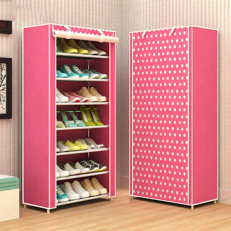 Superbe Shoe Rack 8 Layer 7 Grid Non Woven Fabrics Large Shoe Cabinet Organizer  Removable Shoe Storage For Home Furniture