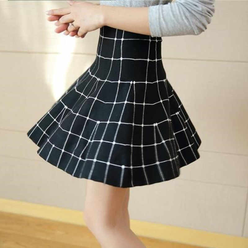 dd98093e5492 Autumn winter high waist knitted skirts korean style streetwear pleated  women skirt casual plus size mini