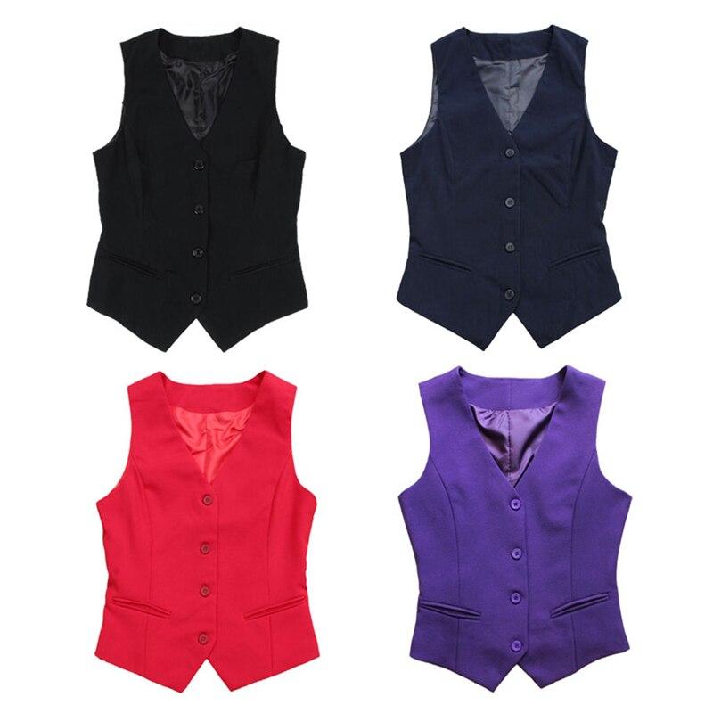 9cfa164913fe5a Frauen Formale Weste Baumwolle Büro Dame Sleeveless Mantel V ausschnitt  Kellnerin Weste Gilet Plus Größe M 4XL Outwear 200 A371 in Frauen Formale  Weste ...