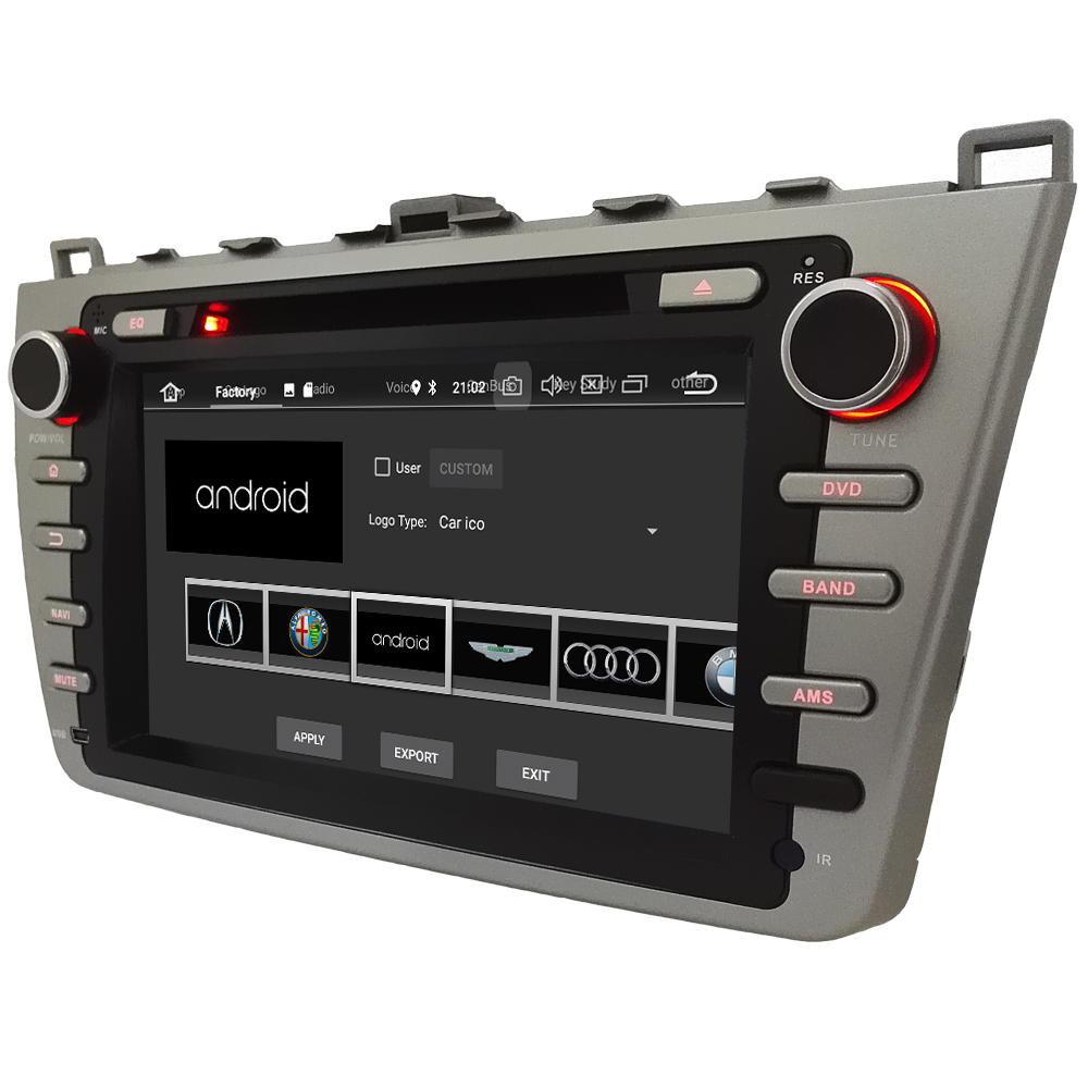 KLYDE 8 4 г WI-FI Android 8,0 Octa Core PX5 4 ГБ Оперативная память 32 ГБ Встроенная память BT автомобиля DVD мультимедийный плеер радио для Mazda 6 Ultra Ruiyi 2008-2012