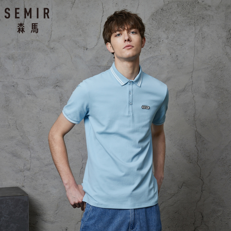 SEMIR Short Sleeve   Polo   shirt for Men Men Short-sleeved shirt Classic shirts Tees Male Fashion Summer Clothes Clothing