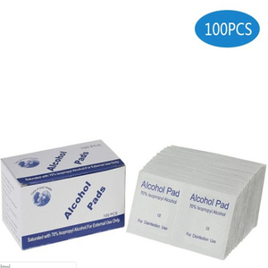 100pcs/lot Portable Alcohol Swabs Pads Wipes Antiseptic Cleanser Cleaning Sterilization First Aid Home & outdoor Disinfection