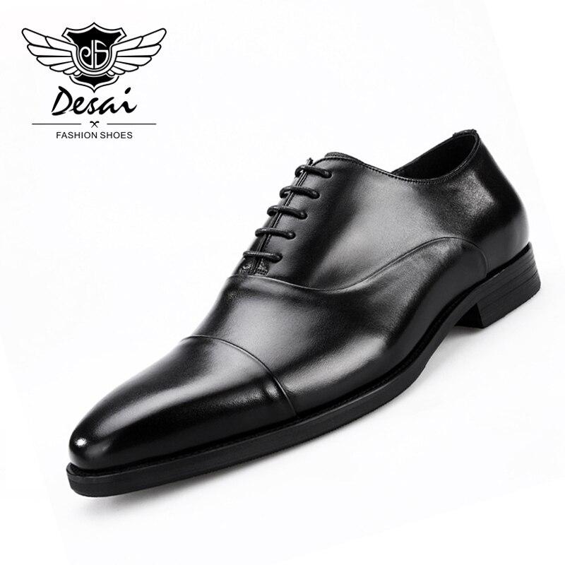 Ayakk.'ten Resmi Ayakkabılar'de 2019 YENI erkek ayakkabıları Kare Kafa İngiliz El Yapımı Ayakkabı iş elbisesi Hakiki deri ayakkabı Erkekler Resmi Avrupa Ayakkabı'da  Grup 1