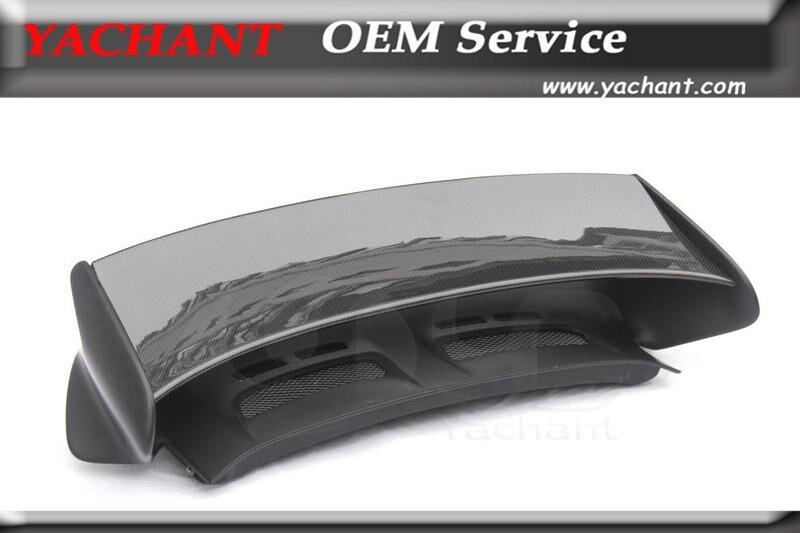 Partie aileron de coffre arrière en Fiber de carbone adapté pour 05-11 911 997 carrare GT3-RS-Style aile de Spoiler en carbone avec Base en Fiber de verre FRP