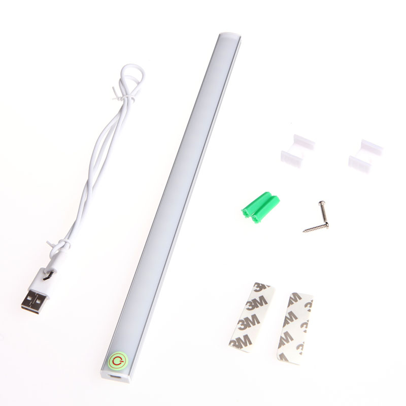 Dimmable 30CM USB <font><b>LED</b></font> Touch Sensor Light Strip Cabinet Wardrobe Cupboard Lamp L15 image