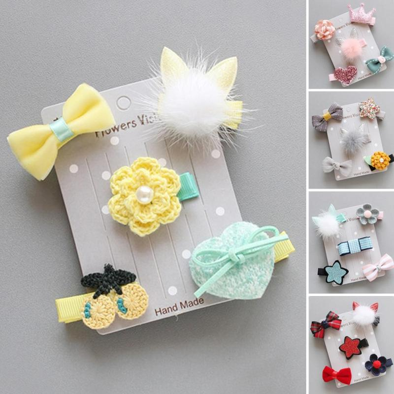 Bows font b Pet b font Dog Hair Clips Accessories Hairpins Bow Flower Puppy Grooming Supplies