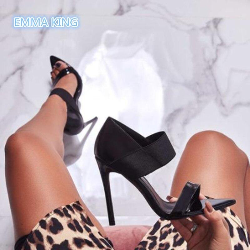 Romaines À Bout Stretch Aiguilles Picture Sexy Cheville Été Sangle Hauts Dames Sandales As Ouvert Chaussures Parti Noir Mujer Femmes Sandalias Talons 1IvwqZXY