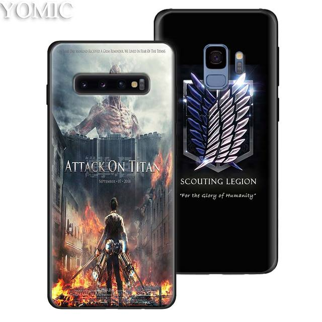 Attack on Titan Black Soft Case Cover for Samsung Galaxy S Series