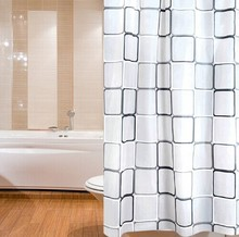 Boutique  High Quality  Modern  City Night View Bathing Waterproof Bathroom Fabric Shower Curtain (Inner Senses)