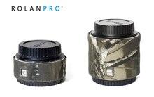 ROLANPRO Camera Lens Camouflage Rain Cover Raincoat for Canon DSLR Camera Barlow Guns Clothing Camera Barlow Protection Sleeve