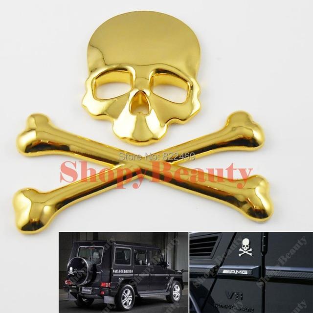 3d diy car decal skull bone sticker emblem badge logo maker devil pirate car sticker for