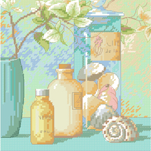 Cross-Stitch-Kit Counted And Dim Shell 65050 Glass-Bottle Top-Quality Beautiful Sanctuary