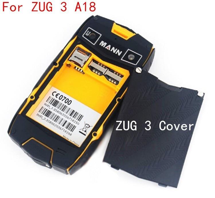 Original Brand New MANN ZUG3 Battery cover case Back case For MANN ZUG 3 A18 IP68 Waterproof Outdoor Shockproof Smartphone