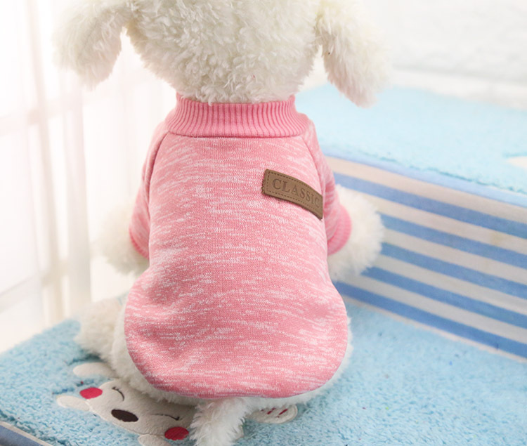 Classic Warm Dog Clothes Puppy Pet Cat Jacket Coat Winter Fashion Soft Sweater Clothing For Small Dogs Chihuahua XS-2XL 25S1 7