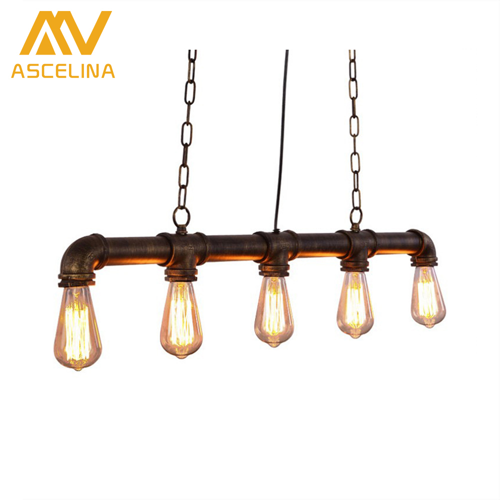 ASCELINA loft pendant lights led lamp retro Industrial Pendant Lighting hanging light fixtures living room Lights E27 85-260V купить