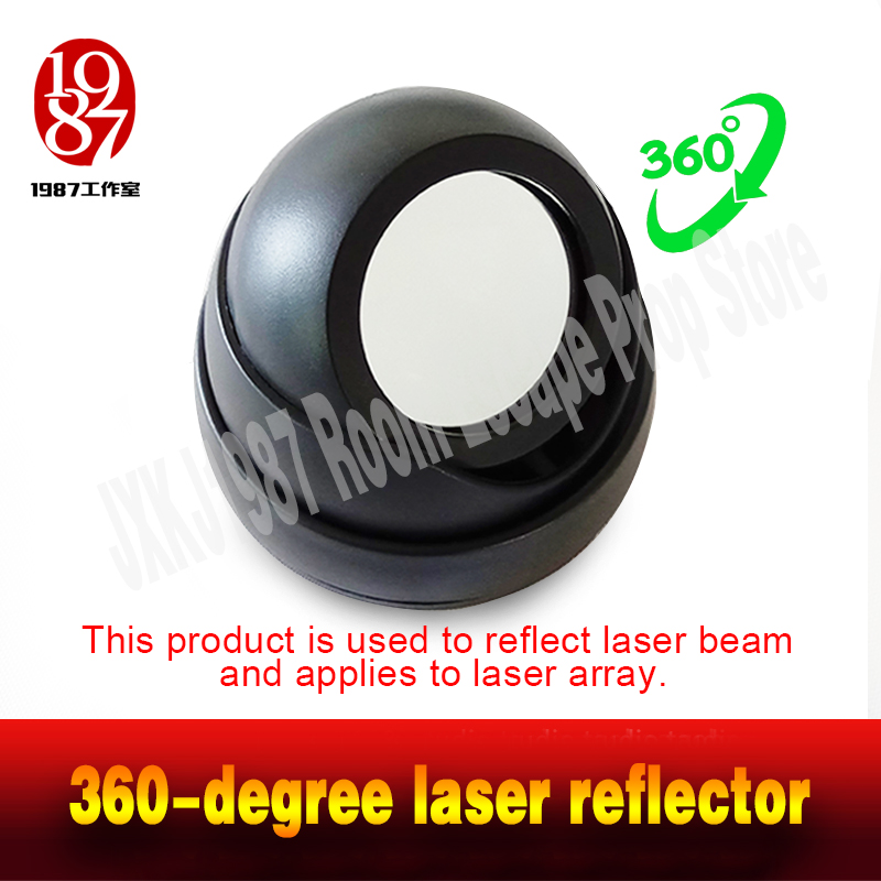 Room escape game prop 360-degree laser reflector reflect the laser back to the laser receiver real-life chamber takagism 2018 reef tiger rt top brand sport watch for men luxury blue watches leather strap waterproof watch relogio masculino rga3363