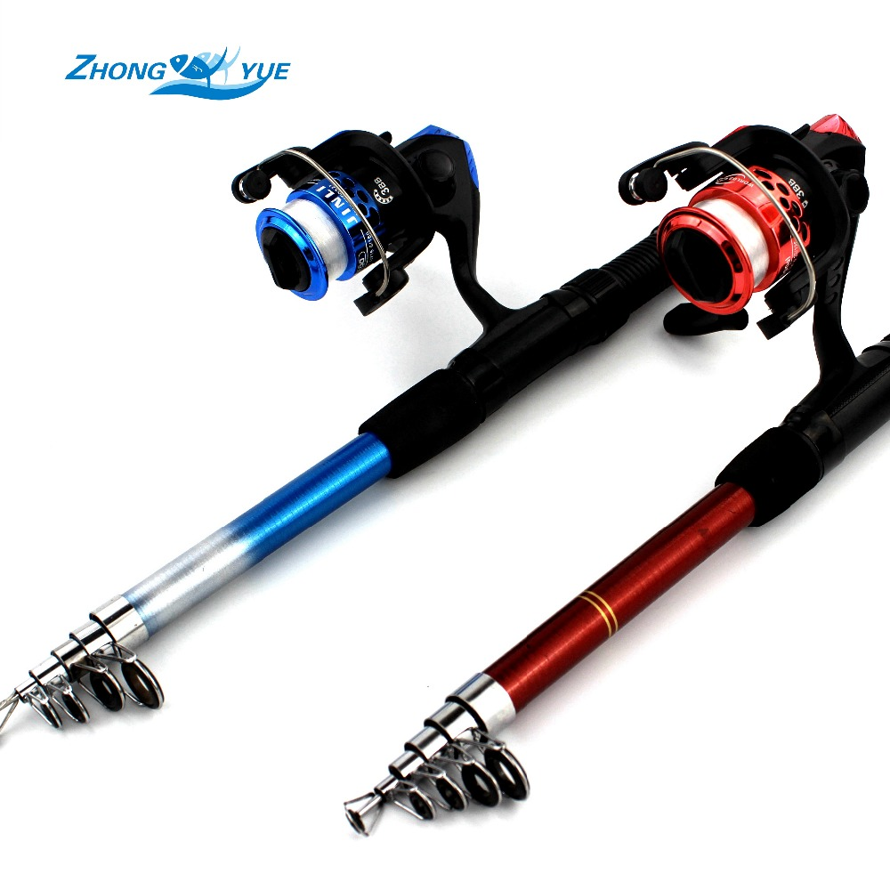 Fishing reel and rod set telescopic fishing rod 3bb for Fishing rod set