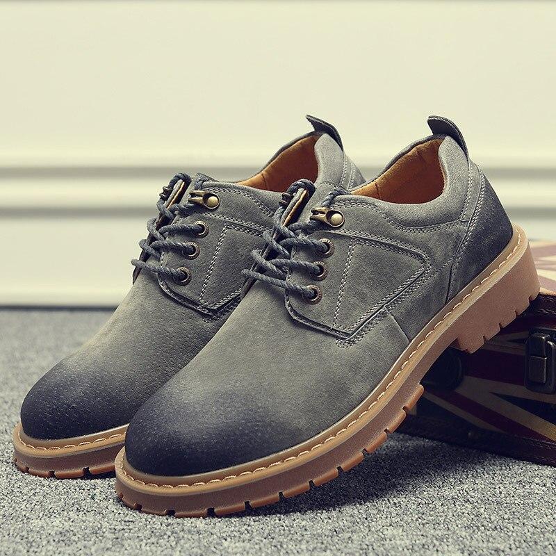 2019 new big head workwear boots retro men s shoes fashion versatile men s casual shoes