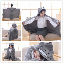New On sale plush toy stuffed totoro doll hung out blanket air conditioning blanket creative christmas gifts for children girls(China)