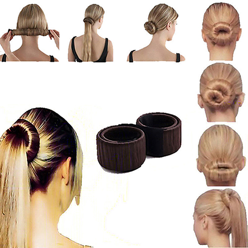 Fashion Women Twist Hair Bun Maker Donut Styling Braid Holder Accessory Tool