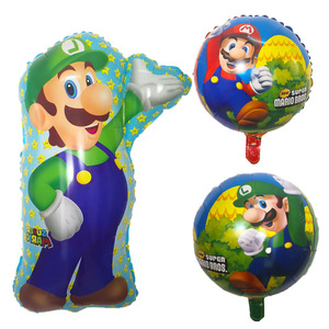 Image 2 - 50pcs 68*44CM Super Mario Balloon party Classic Toys Mario Bros Mylar foil Balloons super hero Birthday Party Decoration Balls
