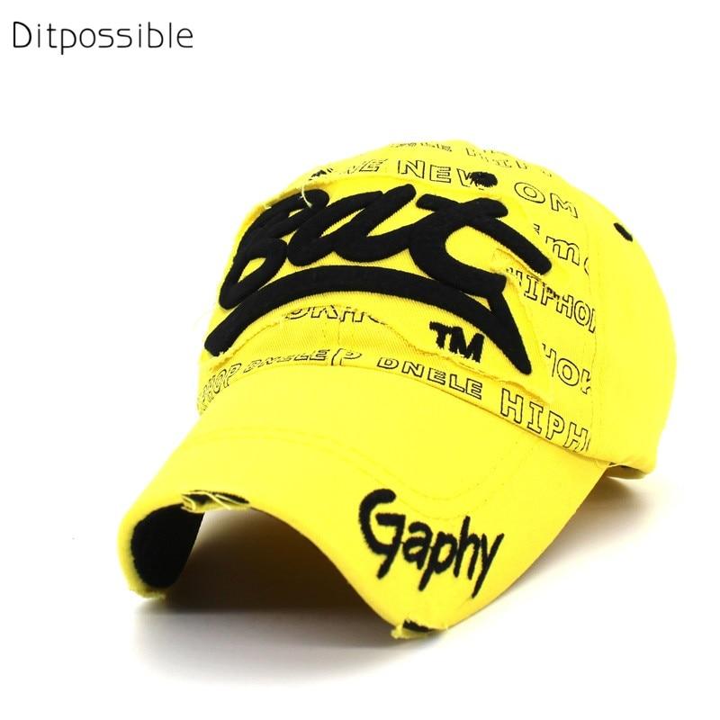 Ditpossible summer cotton hat women baseball caps letters casquette adjustable snapbacks hip hop cap men's hats