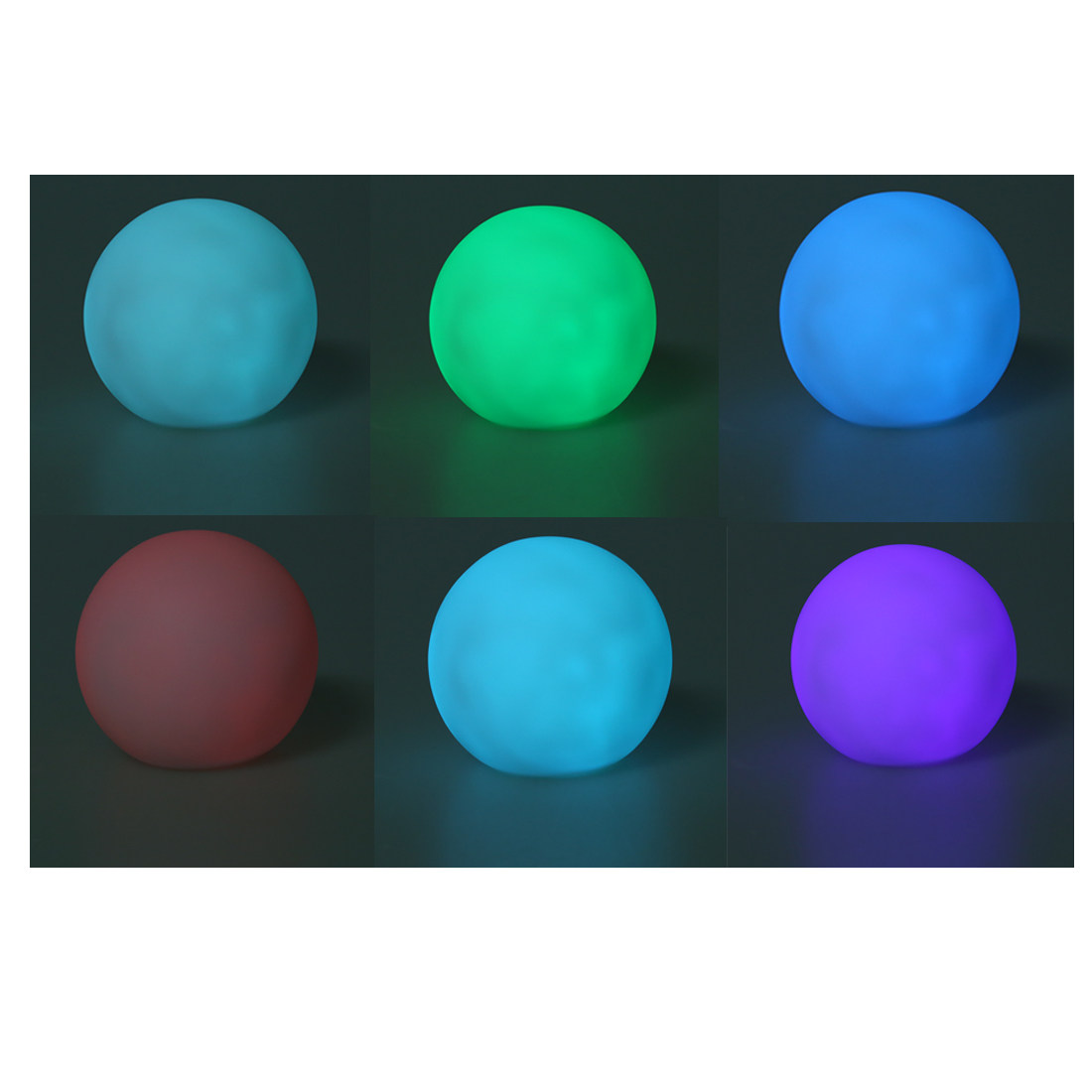 Multi Colour Changing LED Ball Lamp Night Light Party Home Bedroom Lightning Decor Lamps Cute Gift To Kids Girls Lovers Friends