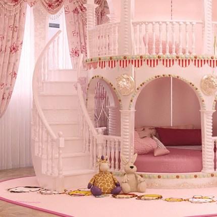 Chambre Princesse Fille Enfants de Diapositives Lit, belle Unique ...