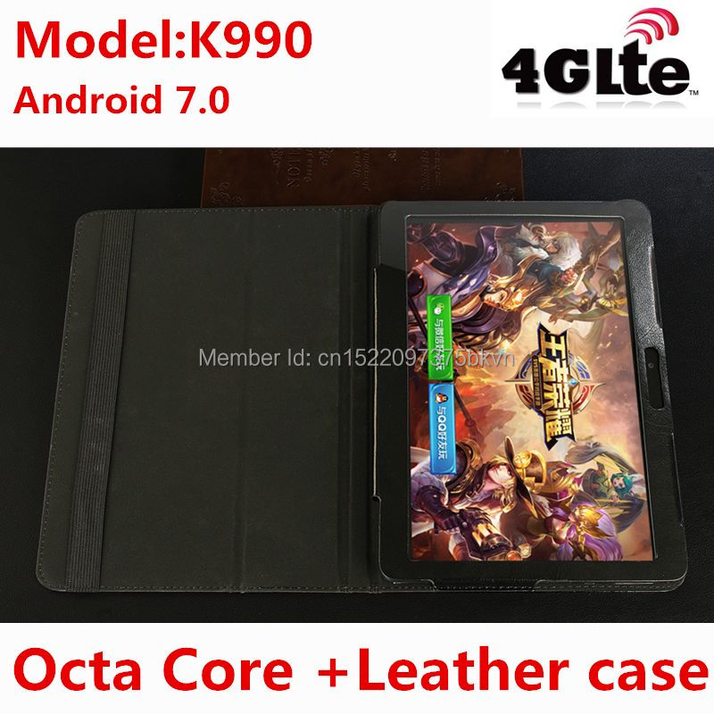 Livraison gratuite Octa Core 10.1 pouces tablettes MTK8752 Android tablette 4 GB RAM 128 GB ROM double SIM Bluetooth GPS Android 7.0 10 tablette PC