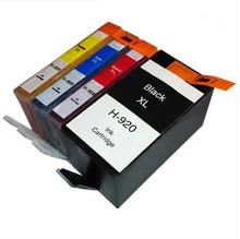 4 чернила для HP920 920XL 920 картридж для hp officejet 6000 6000A 6500 6500A 7000 7000A 7500 7500A принтер полным чернил