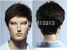 dd009104 Cos black short straight Cosplay Full men Wigs + WIG Cap  (D Special discount 35%)