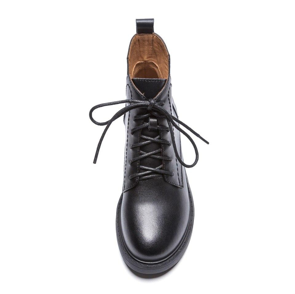 Femmes Hiver Short Chaussures black Mode Chelsea black Cuir Martin Véritable Dames 1 1 Plush Simple Black Rétro 2 Bottes Automne 2018 qTyA7PBZ