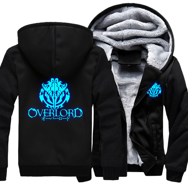Image 5 - Fashion Mens Hooded Anime Overlord Fleece Thicken Hoodie Unisex 