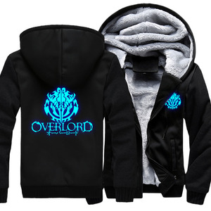 Image 5 - Fashion Mens Hooded Anime Overlord Fleece Thicken Hoodie Unisex Hoodies & Sweatshirts Hoody Jacket Coat US Size 4 Colors