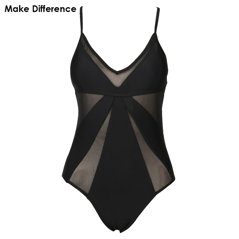 Make Difference Sexy Women Black One Piece Swimsuits Fused 2017 Women's Swimming Bathing Suit Swimwear Female May Beach Bodysuit swimming suit for women cheap sexy bathing suits swimwear one piece female may beach girls 2017 new green one piece high waist